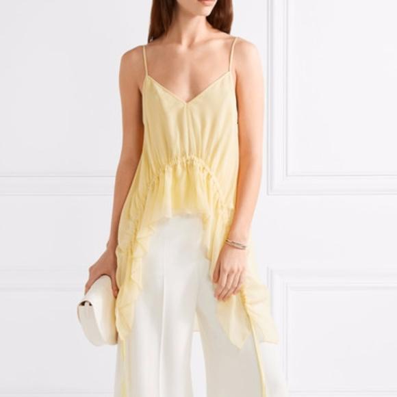 Elizabeth And James Woman Eleanor Ruffled Silk-crepon Camisole Yellow Size L Elizabeth & James Discount 2018 Prices For Sale Discount Ebay 9DZ1hFiA2