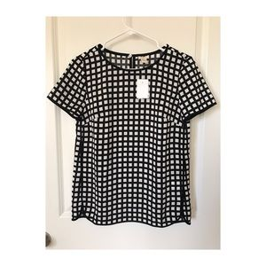 J Crew Factory Printed Blouse
