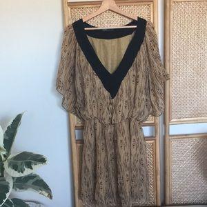 Gypsy 05 Tan Pattern Bohemian Dress