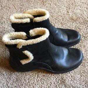 Clarks bendables black ankle boots