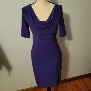 NWT Ralph Lauren Azure Blue Dress Size 4 Petite