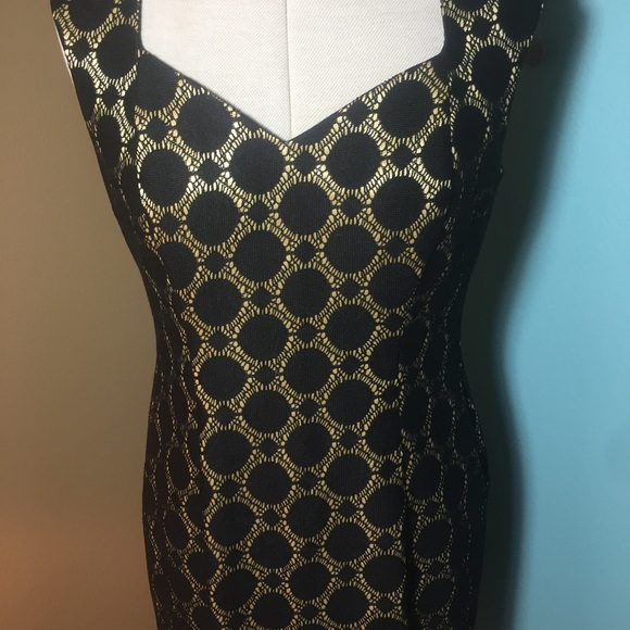 a8b9ee41 Kasper Dresses | Nwt Black Gold Sheath Dress | Poshmark