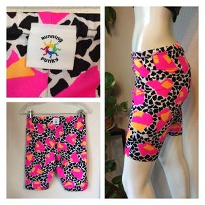 80s Running Funky Spandex Work Out Aerobics Shorts