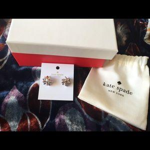 NWT Kate Spade holiday bow earrings