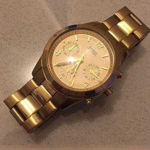 Gold Guess Women's Watch