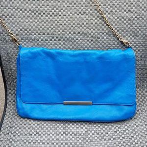 Zara, Turquoise Shoulder Bag/Gold Chain Strap