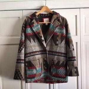 Forever 21 Aztec Print Coat