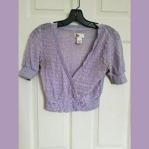 Light Purple Cropped Cardigan