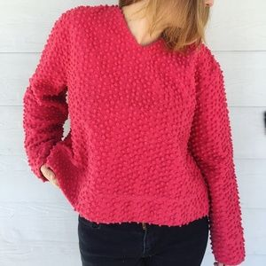 Christopher & Banks Pink Textured Sweater