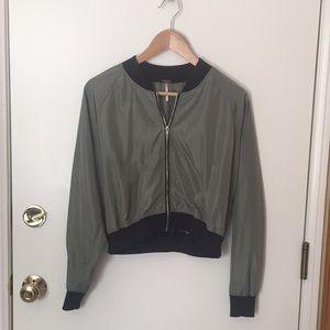 Jackets & Blazers - Cropped Green Bomber style  Jacket