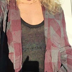 new w tags DKNY flannel