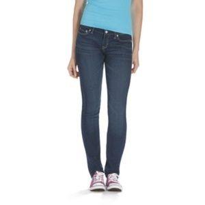 Aeropostale Bayla Skinny Jeans 00 Dark Wash