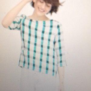 Zara Checkered Top - size XS
