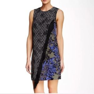 REBECCA TAYLOR~Box Step Floral Fringe Dress~4
