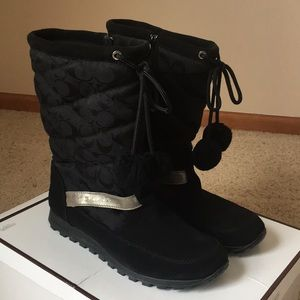Brand New Coach Juniper Suede & Quilted Boots