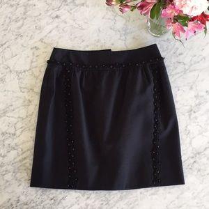 Anthropologie Leifsdottir Beaded pencil skirt