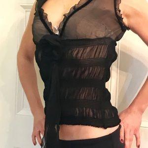 ⚡️Dolce & Gabanna | 💯 silk black sleeveless top