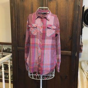 BDG Bright Plaid Button Down Shirt