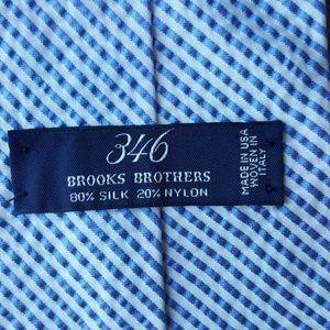 Brooks Brothers silk seersucker tie