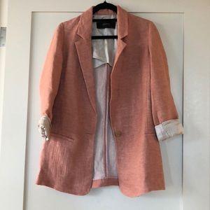 Pink Zara oversized blazer