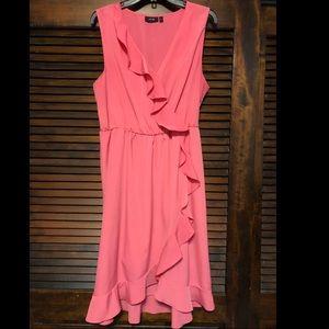 Apt. 9 bright pink ruffle dress