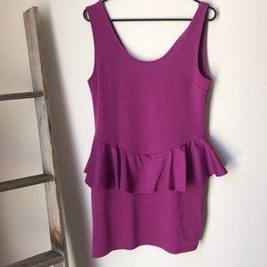 Peplum style party dress