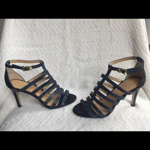 Woman's navy Banana Republic heel sandal