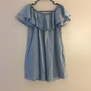 off the shoulder Zara dress. Medium.