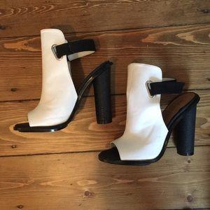 Shoe Cult by Nasty Gal Black & White Heels