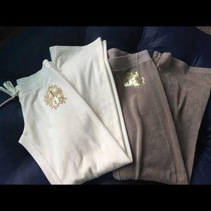 Juicy Couture velour pants (bundle)