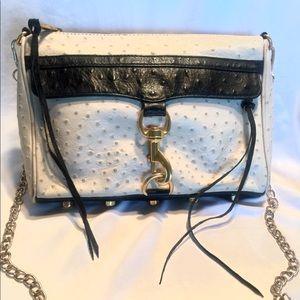 Rebecca Minkoff MAC Ostrich Crossbody Bag Purse