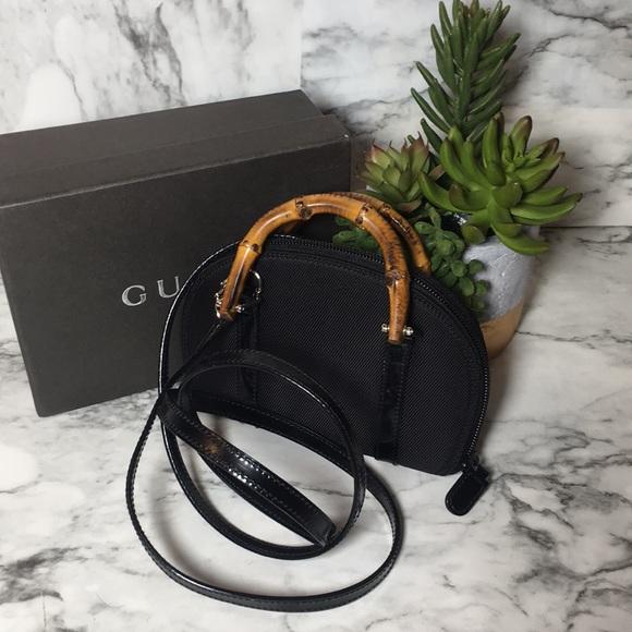 d49e2a61554c Gucci Handbags - Gucci mini bamboo handle wallet/ crossbody