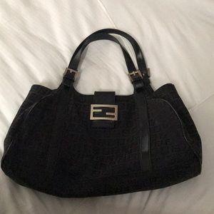 Black monogram Fendi handbag