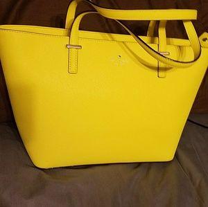 Sunshine yellow Kate Spade tote