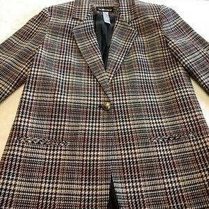 Sag Harbor plaid blazer size 14