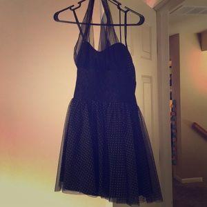 Polka dot dress haulter