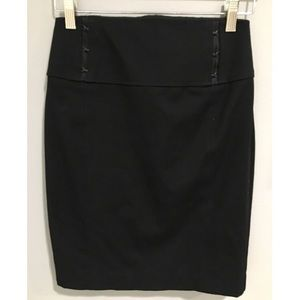 Express High Waisted Pencil Skirt w/ Clasp Detail