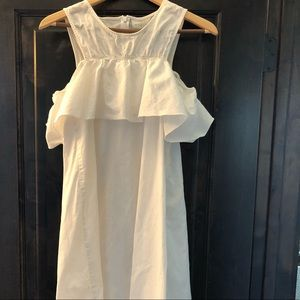 ASOS white summer dress with frill size M