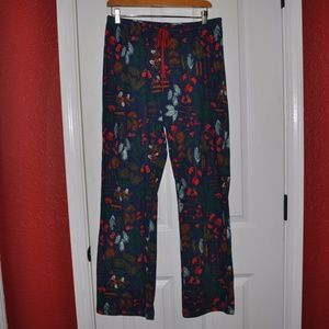 New GILLIGAN & O'MALLEY Holiday Print PJs Pants A5