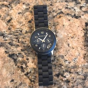 Michael Kors black and gold watch