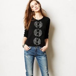 Anthropolgie French Knot Cardigan by Monogram S