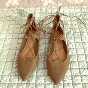 Never Worn Old Navy Sage Green Lace Up Flats 10