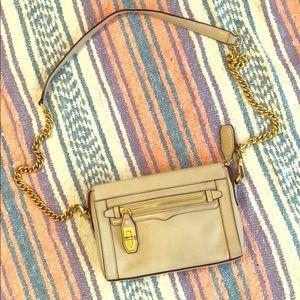 Rebecca Minkoff Gray Gold Chain Crossbody Bag