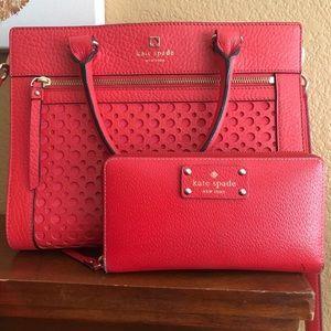 EUC Kate Spade Rome Perri Lane handbag and wallet