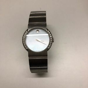 Movado Diamond Watch w/ Mother of Pearl Face