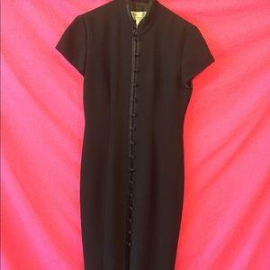 Jones NY Long eve dress with mandarin collar