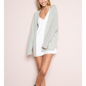 Brandy Melville Caroline Cardigan Grey One Size