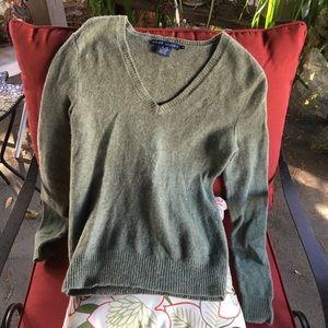 Ralph Lauren sage color merino wool/rabbit sweater