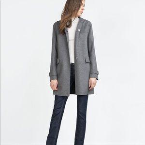 Zara Handmade Wool Hooded Coat
