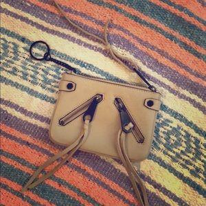 Rebecca Minkoff Zip Keychain Wallet Gray